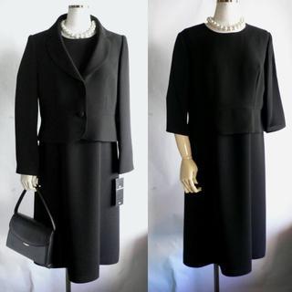 ソワール(SOIR)の新品東京ソワール13号黒ワンピーススーツ卒業式ブラックフォーマル礼服(礼服/喪服)