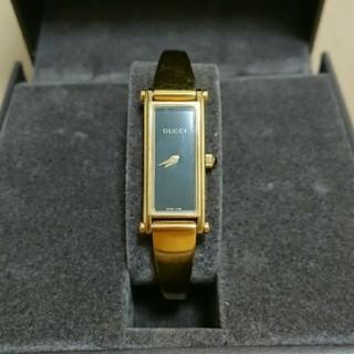 Gucci - 腕時計 1500L  ゴールド×黒