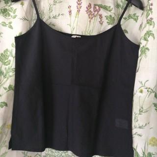 ユニクロ(UNIQLO)のアノーキ 黒 キャミソール(Tシャツ(半袖/袖なし))