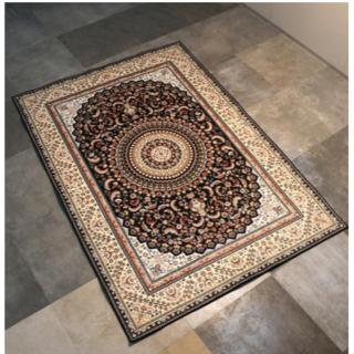 ヨーロッパ式のカーペット茶カーペット家庭用畳床のベッドのそばにカーペットが洗濯(カーペット)