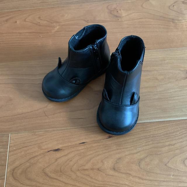 petit main(プティマイン)のプティマイン 女の子 黒色ブーツ14cm キッズ/ベビー/マタニティのベビー靴/シューズ(~14cm)(ブーツ)の商品写真