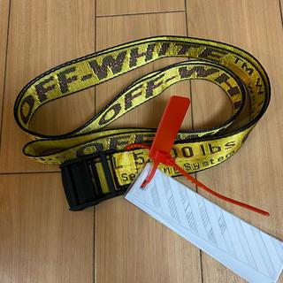 OFF-WHITE - OFF-WHITE オフホワイト ベルト黄色 200cm