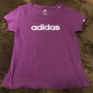 アディダス(adidas)のadidas アディダス Tシャツ 紫 レディース Sサイズ スポーツ(Tシャツ(半袖/袖なし))