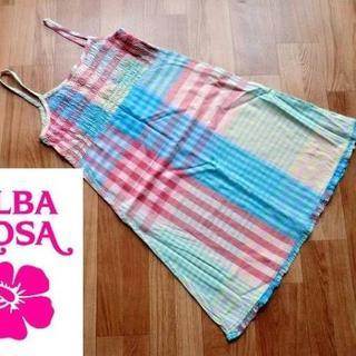 アルバローザ(ALBA ROSA)のアルバローザ ALBA ROSA■クレイジーチェック柄・ワンピース■ピンク系■F(その他)