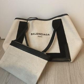 Balenciaga - BALENCIAGA ネイビーカバス トートバッグ バレンシアガ