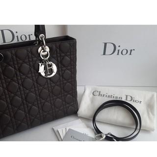 Dior - Dior 国内ディオールで購入 レディ ディオール 大きいサイズ ストラップ付