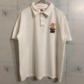 ディズニー(Disney)の大人気 トムとジェリー ワンポイント 白 ポロシャツ(ポロシャツ)