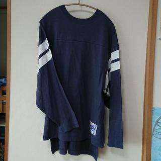 アメリカーナ(AMERICANA)のAMERICANA(アメリカーナ)バックVネック ロングスリーブTシャツ(Tシャツ(長袖/七分))