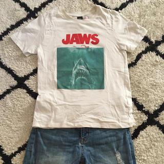 エイチアンドエム(H&M)のデニムハーフパンツ Tシャツ 2点セット(Tシャツ/カットソー)