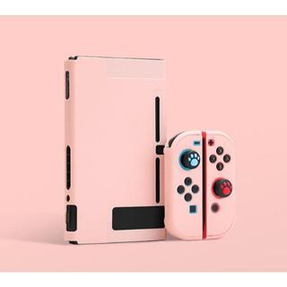 任天堂 - 任天堂Switchケース保護スキンカバー ピンク液晶9H保護シート付き2点セット