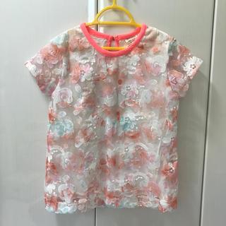 ザラキッズ(ZARA KIDS)のZARA チュール 花柄 Tシャツ 122(Tシャツ/カットソー)