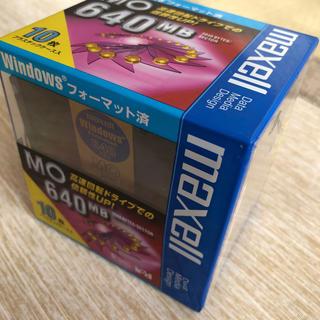 マクセル(maxell)の3.5型光磁気ディスク(MO)10枚入り(PC周辺機器)
