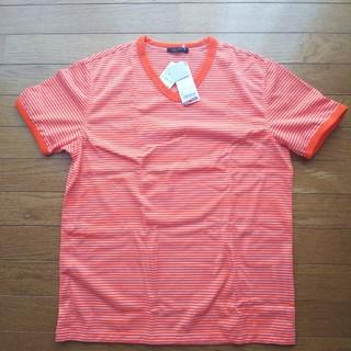 ユニクロ(UNIQLO)のドライメッシュ ボーダーVネックT(Tシャツ(半袖/袖なし))