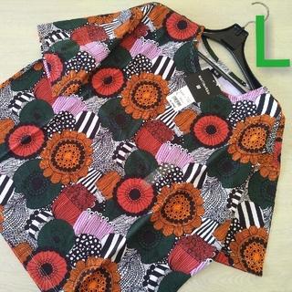 ユニクロ(UNIQLO)の新品○UNIQLO×marimekko ユニクロ×マリメッコ○Tシャツ(L)赤(Tシャツ(半袖/袖なし))