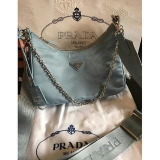 PRADA - Prada hobo ブルー ショルダーバッグ  ハンドバッグ  チェーンバッグ