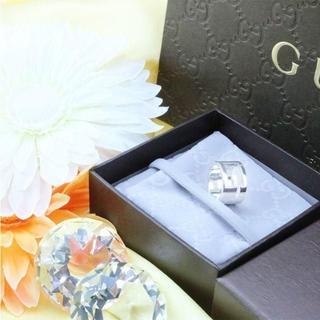 グッチ(Gucci)の☆新品☆未使用☆Gucci グッチ ブランデッドオープンGリング10号(リング(指輪))