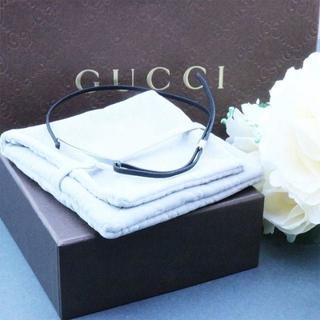 グッチ(Gucci)の☆新品☆未使用☆Gucci グッチ プレートロゴチョーカー(革紐)(ネックレス)