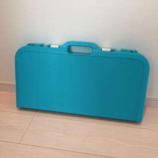 アウトドア折り畳みテーブル ブルー(アウトドアテーブル)