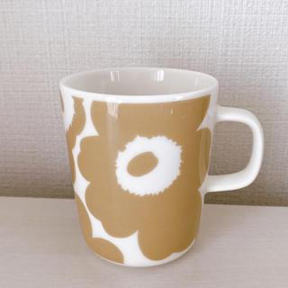 マリメッコ(marimekko)の新品未使用★マリメッコ マグカップ ウニッコ ベージュ(グラス/カップ)