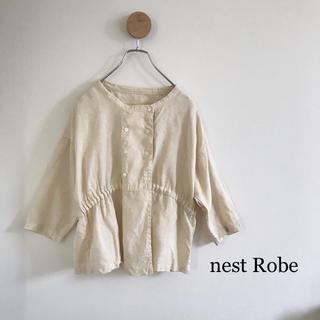 nest Robe - ネストローブ・リネンブラウス・ベージュ