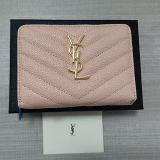 Yves Saint Laurent Beaute - 美品YSL イヴサンローラ 小銭♪入れ 折り財♥布 ピンク