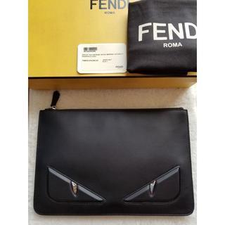 FENDI - FENDI フェンディ Bag Bugs レザー クラッチバッグ