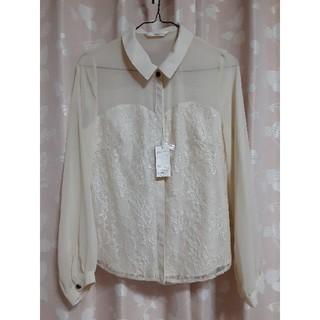 mysty woman - 新品未使用タグ付きミスティウーマンレースシャツ