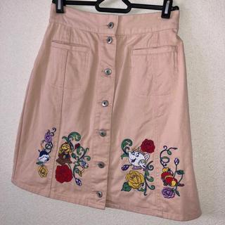 Disney - Disney 美女と野獣 刺繍タイトスカート ディズニー プリンセス ベル
