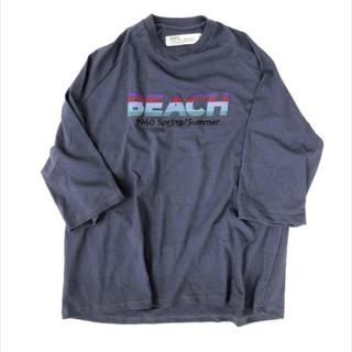 "SUNSEA - DAIRIKU ""BEACH"" Half-Sleeve 20ss Tシャツ"
