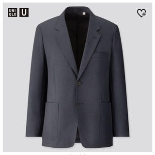 ユニクロ(UNIQLO)のユニクロU 2020ss テーラードジャケット ネイビー Sサイズ(テーラードジャケット)