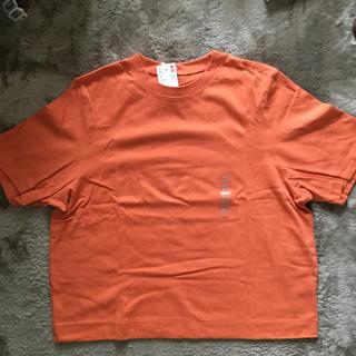 ユニクロ(UNIQLO)のUNIQLO クロップドクルーネックTシャツ(Tシャツ(半袖/袖なし))