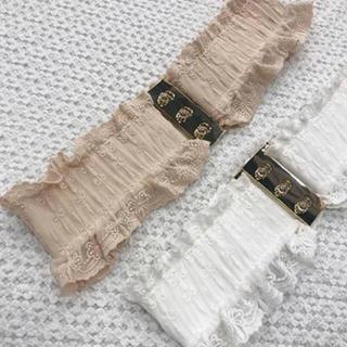 ワンアフターアナザーナイスクラップ(one after another NICE CLAUP)のナイスクラップ  【petite】butterfly corset belt 白(ベルト)