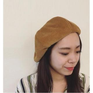 トゥデイフル(TODAYFUL)のTODAYFUL コーデゥロイベレー コーデュロイ ベレー帽 シンプル キャメル(ハンチング/ベレー帽)
