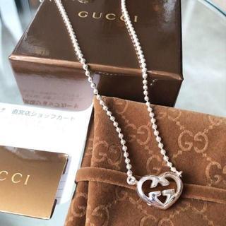 グッチ(Gucci)の☆新品☆未使用☆グッチ ハートシェープインターロッキングGモチーフペンダント(ネックレス)