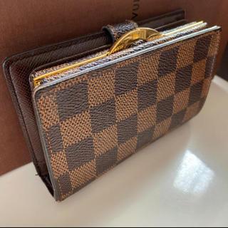 ルイヴィトン(LOUIS VUITTON)の正規品ルイヴィトンがま口 ダミエ折財布(財布)