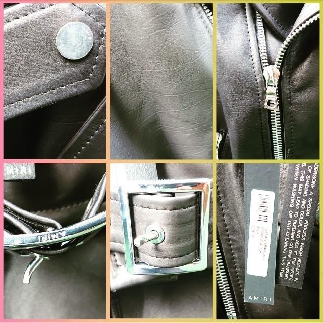 Saint Laurent(サンローラン)の★究極新品41万★amiriアミリM黒カーフレザージャケットブラック黒ライダース メンズのジャケット/アウター(ライダースジャケット)の商品写真