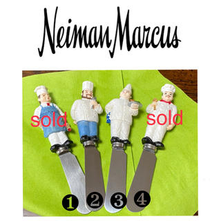 アメリカ ニーマンマーカス コックさん バターナイフ 2本(カトラリー/箸)