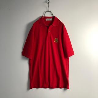 バーバリー(BURBERRY)のバーバリーズ 半袖 ポロシャツ メンズ M 赤 オールド 古着(ポロシャツ)