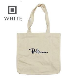 ロンハーマン(Ron Herman)のローンハーマン トートバッグ ホワイト ロゴ刺繍入り Ron Herman(トートバッグ)