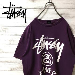 ステューシー(STUSSY)の激レア 90s ステューシー Tシャツ デカロゴ   メキシコ製 美品(Tシャツ/カットソー(半袖/袖なし))
