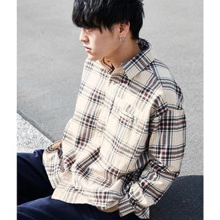 ビッグシルエットチェックシャツ 韓国(シャツ)