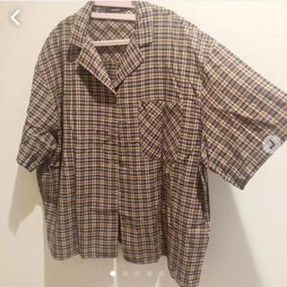 ダブルクローゼット(w closet)の半袖シャツ チェックシャツ (シャツ/ブラウス(長袖/七分))