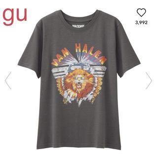 ジーユー(GU)の★gu グラフィックT VAN HALEN グレー ライオン L(Tシャツ(半袖/袖なし))