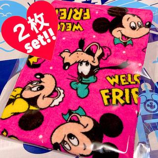 ディズニー(Disney)の新品❤ディズニー/総柄ハンドタオル❤レトロ/ノスタルジカ/ダッフィー/ステラルー(キャラクターグッズ)