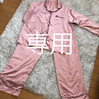 ジーユー(GU)のGU ピンクパジャマ  上下セット L(パジャマ)