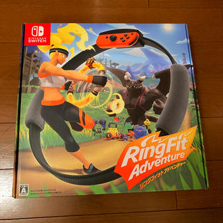 ニンテンドースイッチ(Nintendo Switch)のリングフィットアドベンチャー joy-con+ソフト同梱セット ほぼ新品(家庭用ゲームソフト)