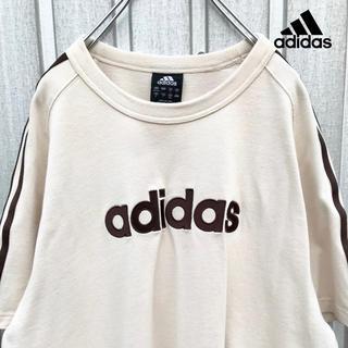 アディダス(adidas)のadidas Tシャツ 厚手コットン アースカラー ベージュ ユニセックス(Tシャツ/カットソー(半袖/袖なし))