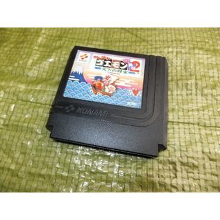 A035ファミコンカセット『がんばれゴエモン2』と『がんばれゴエモン外伝2』(家庭用ゲームソフト)