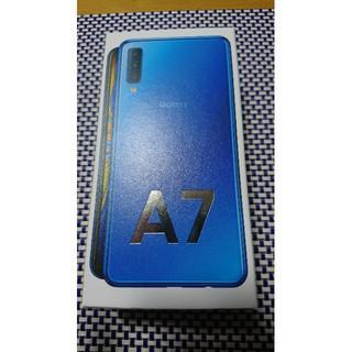 ギャラクシー(Galaxy)の【新品未開封】Galaxy A7 ブルー 64 GB SIMフリー(携帯電話本体)