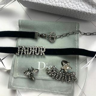 クリスチャンディオール(Christian Dior)のDIOR チョーカーとピアスセット(ネックレス)